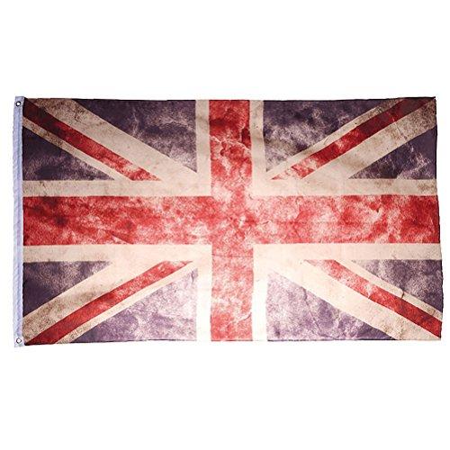 Bandiera GRAN BRETAGNA UNION JACK United Kingdom UK GB VINTAGE LOOK 150 nuova