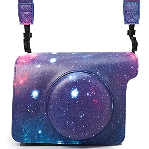 Woodmin Galaxie Cuir PU Protecteur Housse pour Fujifilm Instax Wide