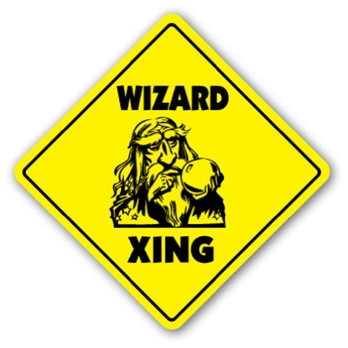 (SignMission Wizard Crossing Sign Zone Xing |-| 30,5 cm Hoch Hexerei Hexe Fantasy Gag Funny Witz)