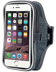 EOTW iPhone 6 6S Plus Brazalete Deportivo para Samsung Galaxy J7 S5 S7 S6 Edge Note 5 4 3 Moto G4 Huawei P8 P9 8 LG G4 G3 Para Jogging y Gimnasio, con bolsillo para llaves auriculares y tarjetas Gris