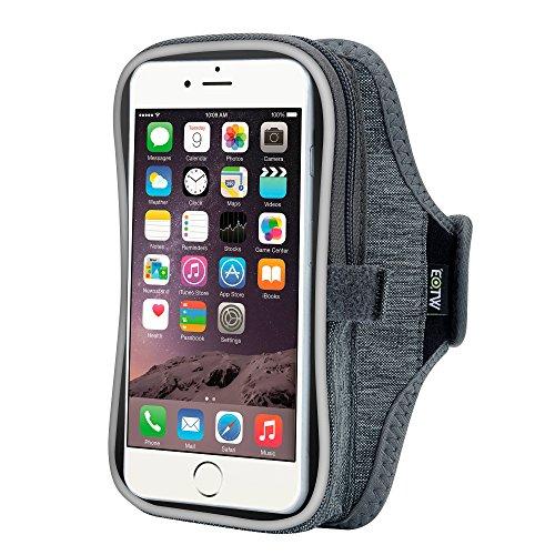 EOTW Fascia da Braccio Sportiva Universale Armband Custodia per Grande Smartphone Huawei P8/P8 lite/P9 lite plus S7 edge Corsa Jogging 5,5 inch Grigio