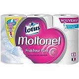 LOTUS Moltonel Fraîcheur Pure Set de 6 Rouleaux de Papier Toilette Parfumé Blanc - Lot de 2