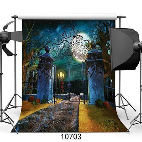 10703 Fotohintergrund, Halloween-Horror-Nacht, dünn, Vinyl, 25,4 x 3 m