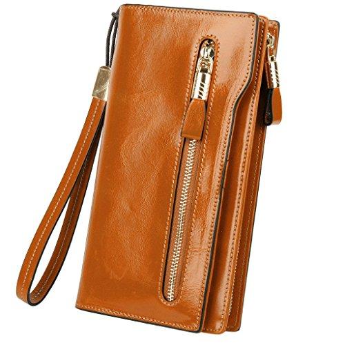 yaluxe-donne-grande-capacity-luxury-cera-pelle-wristlet-portafogli-con-cerniera-tasca-marrone