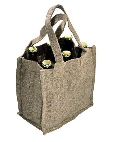 Tasche Für Bier Bierflaschen Jute Geschenk Verpackung Geschenktasche Flaschentasche Flaschenverpackung (TB006)