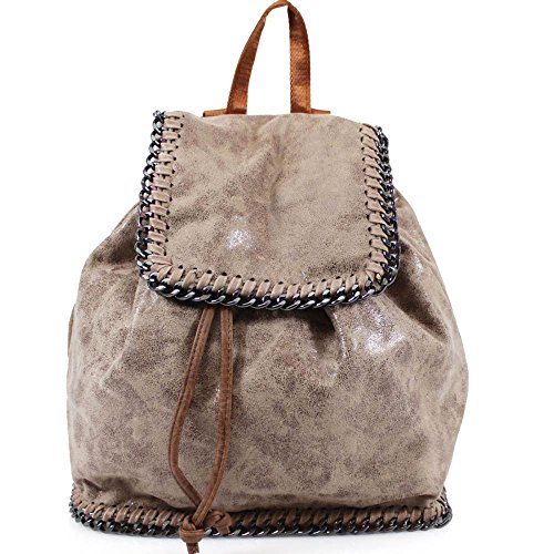 new-ladies-falabella-style-faux-leather-chain-trim-drawstring-backpack