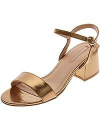 Wear & Walk UK - Sandalias de vestir de charol para mujer, color dorado, talla 36 2/3 EU