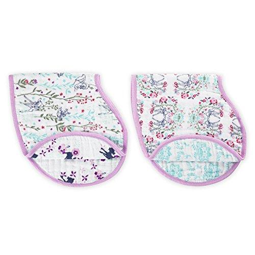 aden + anais Disney Baby Bambi, Burpy Bib, Musselin aus 100% Baumwolle, 22cm x 59cm, 2er Pack (Anais Classic Burpy Bib)