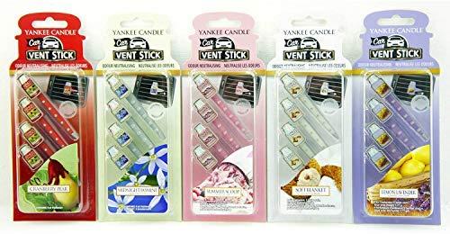 5x Confezioni Ufficiale Yankee Candle Car Vent Stick deodoranti (Totale 20deodoranti)