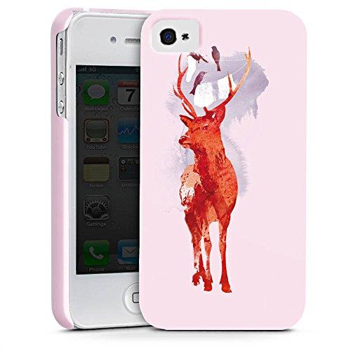 Apple iPhone X Silikon Hülle Case Schutzhülle Hirsch Art Rot Premium Case glänzend