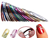 Hosaire 30pcs 30 Multicolor Mixed Colors Rollos Striping Línea de...