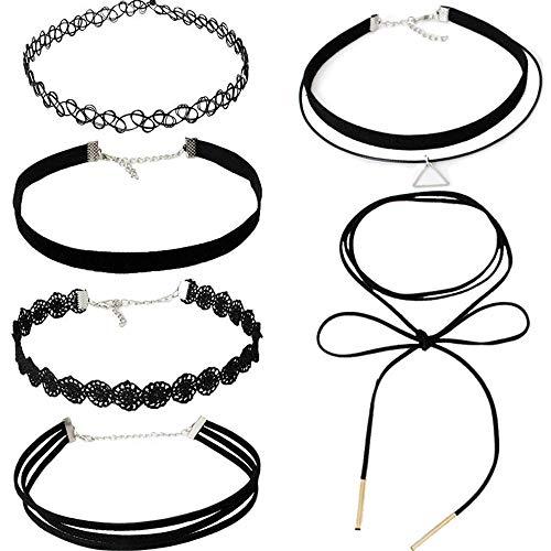 Limeow Schwarzes Choker-Halsband Set Halsbänder halsbänder damen halsbänder mädchen halsbänder damen sexy halsbänder damen schwarz halsbänder anhänger halsbänder schwarz halsbänder set damen