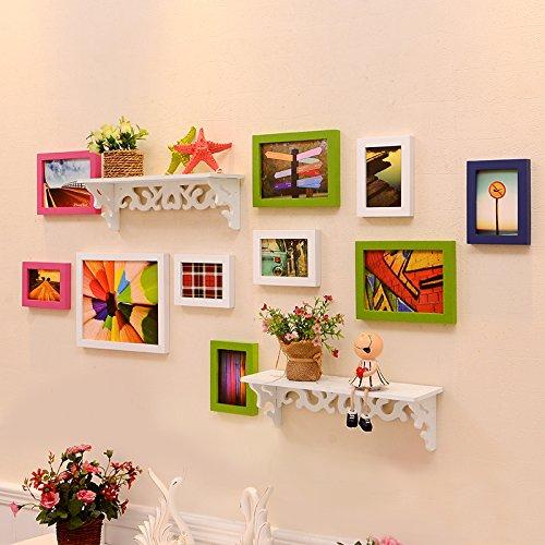 Adesivi da parete cinese Legno solido caldo soggiorno famiglia camera decorazione foto parete rack foto cornice wall hanging , 1