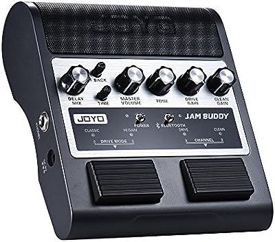Amplificador de la Guitarra Recargable Portátil BT 4.0 Canal Dual 2 * 4W Estilo de Pedal Altavoz del Amplificador con Retraso Overdrive Efectos Limpios Batería de Litio Incorporada JOYO JAM BUDDY