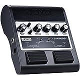 ammoon Joyo Jam Buddy Guitare Amplificateur rechargeable Bluetooth 4.0Dual Channel 2* 4W Pédale style haut-parleur guitare Amplificateur Amp avec delay Overdrive Effects Batterie au lithium intégrée noir