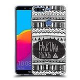 Head Case Designs Offizielle Vasare NAR Hakuna Matata Typografie 2 Soft Gel Hülle für Huawei Honor 7C / Enjoy 8