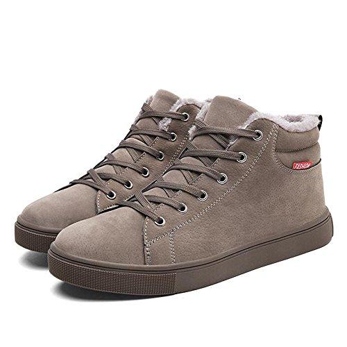 Le calzature sportive Feifei Scarpe da Uomo Materiali di Alta qualità per Il Tempo Libero Invernale Mantieni Scarponi da Neve Caldi 3 Colori (Colore : 02, Dimensioni : EU43/UK9/CN44)