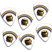 Olla de oro Rainbow 6x Loose púas para guitarra de Logo (GD)