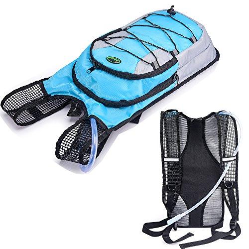 Juboury Trinkrucksack - Hydration Pack mit 2L Trinkblase zum Laufen, Wandern, Radfahren und für alle anderen Outdoor-Sportarten während der Sie trinken sollten Blau