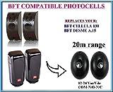 BFT CELLULA 130 / BFT DESME A.15 fotocellule a raggi infrarossi universale compatibile. Coppia di esterno in più fotocellule sensori di sicurezza! 12-24V, N.O-COM-N.C con la gamma 20m !!!