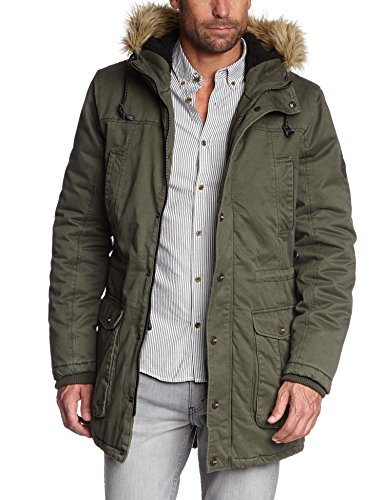 ONLY & SONS Herren Parka Jacke Aron Parka Jacket, Gr. X-Large, Grün (Olive Night)