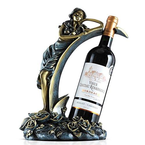 JPVGIA Charakter-Wein-Gestell-Verzierungen, blaues Harz-Skulptur-Verzierungs-Handwerk, (25 * 15.3 * 33.5cm) Wohnzimmer-Kabinett-Dekorationen -