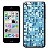 Fancy A Snuggle-Custodia rigida slim, motivo Mosaico di piastrelle, colore: bianco-Cover posteriore rigida A Clip, per Apple iPhone 5C
