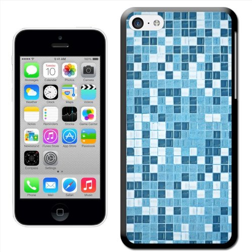 Fancy A Snuggle 'Blue White Mosaic Tile Pattern' Hard Case Clip On Back Cover for Apple iPhone 5C