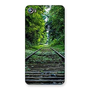 Special Beautiful Track Green Back Case Cover for Micromax Canvas Fire 4 A107