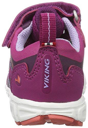 Viking Veme Gtx El/Vel, Chaussures Multisport Outdoor mixte enfant Pink (Plum/Dark Pink)