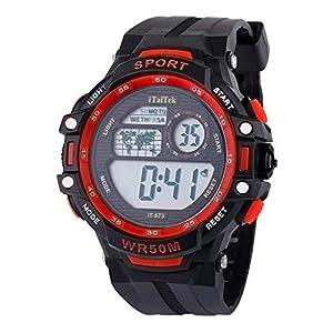 Armbanduhr für Kinder Groveerble Jungen Mädchen Sportuhr Beiläufige wasserdichte Smartwatches Mode Multifunktions Leuchtende Uhr Studenten Geschenk