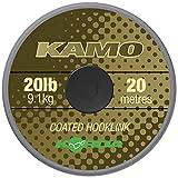 Korda Kamo Coated Hooklink 20m - Vorfachmaterial für Karpfenvorfächer, Vorfachschnur für Karpfenmontagen, Schnur für Karpfenrigs, Tragkraft:20lbs/9.1kg