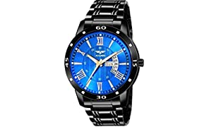 ASGARD Day & Date Feature Black Watch for Men, Boys (Blue)