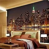 Hohe Qualität Benutzerdefinierte Fototapete Stadt Nachtansicht Wohnzimmer TV Hintergrund Wohnkultur Wandbild Tapete Für Schlafzimmer Wände 8D 140X100cm