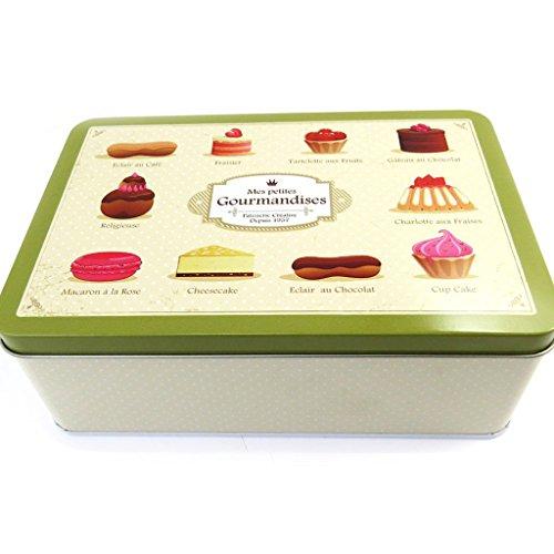 Les Trésors De Lily L8815 - Boite à sucre 'Mes Petites Gourmandises' kaki