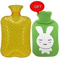 Gummi-Thermoskanne Große Größe 2000ML Klassische PVC-heiße kalte Wasser-Flaschen-Tasche mit Abdeckung Winter-hintere... preisvergleich bei billige-tabletten.eu