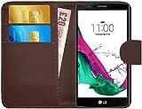 G-Shield LG G4 Hülle mit Kartenfach Ledertasche