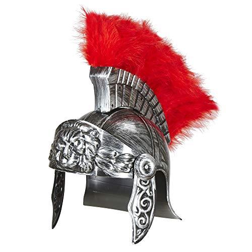 Widmann 03613 Römischer Helm im antiken für Erwachsene, Silber (Römischer Soldat Helm Kostüm)