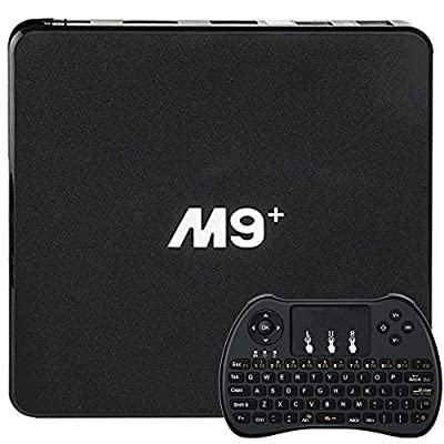 [2017 New Arrivals] M9+ TV BOX M9 Plus Amlogic S905X 64bit Quad-core Android 6.0 Smart TV Box HDMI 1G/8G Supports 3D 4K WIFI + Mini Wireless Keyboard