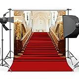 Mehofoto Roter Teppich Hintergrund 5x7ft Hochzeitsfeier Party Fotografie Hintergrund Luxuriöse Palace Hall Seamless Foto Backdrops