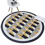 CHENGYANG Europäische Runde Rutschfeste Kaffeetisch Schlafzimmer Teppich Weich Wohnzimmer Teppiche (Stil#1, 150*150cm)