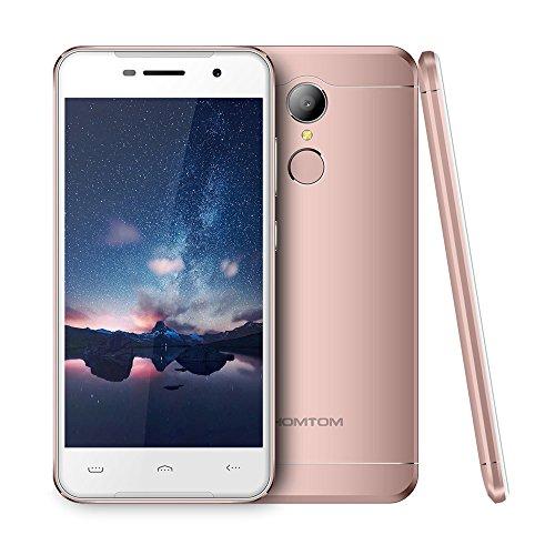 homtom HT373G Smartphone 12,7cm HD Bildschirm 720* 1280px mtk6580Quad-Core 1,3GHz CPU Android 6.0OS 2GB RAM 16GB ROM, 8.0MP + Kamera 3000mAh Akku Dual Sim Schnelles Laden Fingerabdruck ID