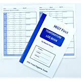 Temperature log book - A5 for recording appliance temperatures 6 Months Period
