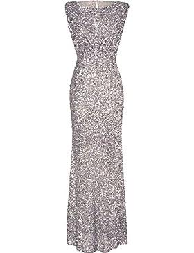 4198bd3226cc iShine Donna Paillettes Vestito Lunghe Formale Cerimonia Vestito da Sera