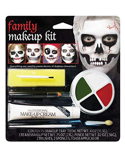 Skelett Make Up für die ganze Familie