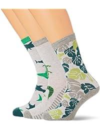 Mens 3er Pack Socken Jungs Im Fröhlichen Farb-Mix Socks, Mehrfarbig (Boy 098), 7/7.5 pack of 3 Melton
