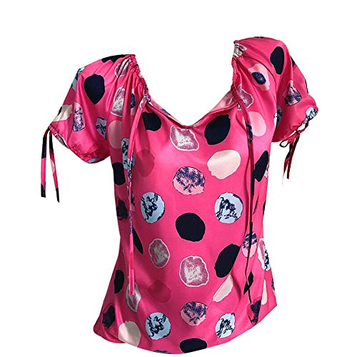 ZEELIY- Blusen Damen Sommer 2019 Wave Point Verband Kurzarm Plus Size Tops Lose T-Shirt Bluse
