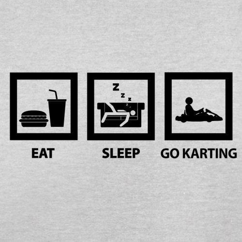 Eat Sleep Go Karting - Herren T-Shirt - 13 Farben Hellgrau