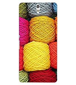 ColourCraft Colourful Wool Design Back Case Cover for SONY XPERIA C5 ULTRA