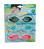 Intex Chlorbrille Sport Goggles Tri-Pack Phthalates Free, 55674